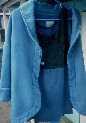 New cardigan from old sweatshirt - refashion