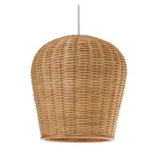 Kouboo - Wicker Pod Pendant Light, Natural - Add a little natural light to your interiors with this pendant. Made entirely of wicker. #wicker #pendant #light