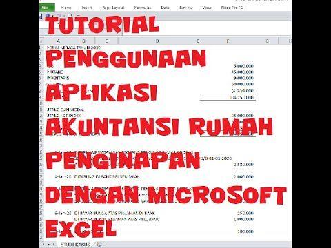 Microsoft Excel Cara Infut Transaksi Pada Aplikasi Akuntansi Rumah Pen Microsoft Excel Microsoft Akuntansi