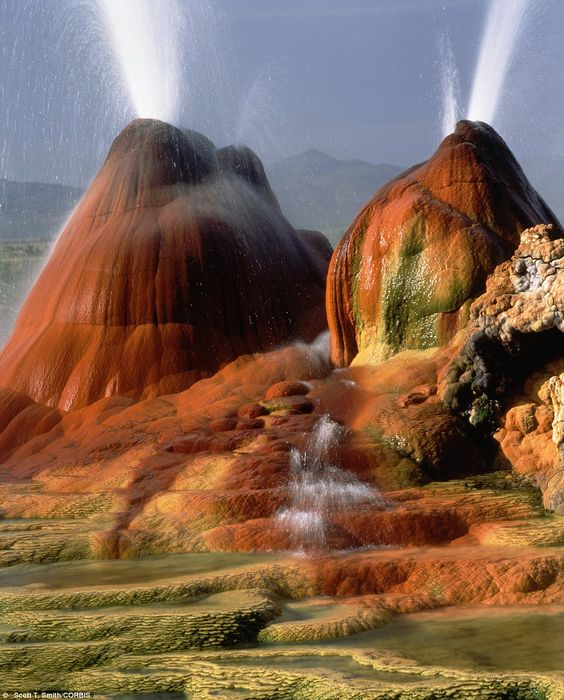 The Geyser Hot Springs in Black Rock Desert, in Nevada: Three Buddhas, Nevada Usa, Favorite Places Spaces, Beautiful Places, Geyser Hot, Hot Springs