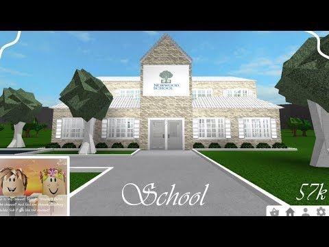 School 57k Speedbuild Roblox Bloxburg Youtube City Layout School Building Design Two Story House Design
