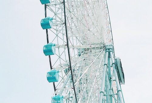 Ferris Wheel with blue seats