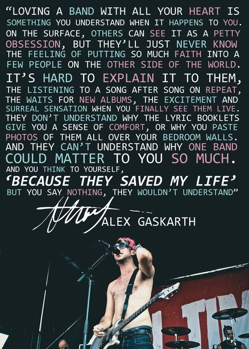 Rock Music Quotes About Life All Time Low Quotes Tumblr