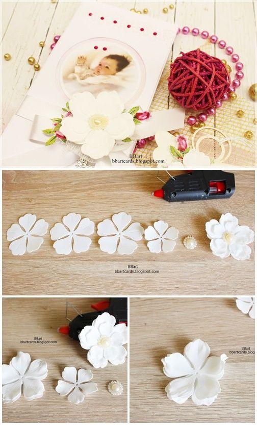 Jak Zrobic Kwiat Z Foamiranu Diy Bbart Foamiran Flower Bbartcards Blogspot Com Foam Flowers Flowers Diy Flowers