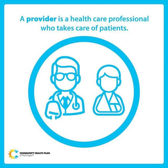 What is a provider? A provider is a health care professional who takes care of patients.  This may be a doctor, a nurse practitioner, behavioral health provider, or other health care professional. Even if you aren't sick now, it's important to choose a primary care provider and to schedule your first appointment. Your PCP oversees your total health care and may work with other care providers and specialists to keep you healthy. CHPW members can browse our Provider Network…