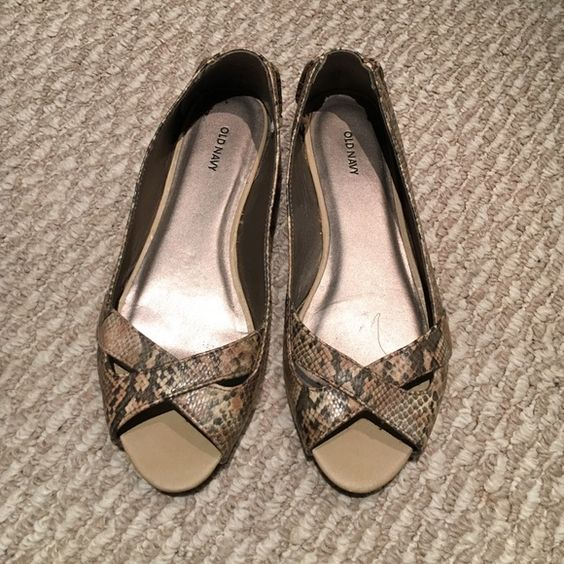 Old Navy Snakeskin Flats Wore a few times Old Navy Shoes Flats & Loafers