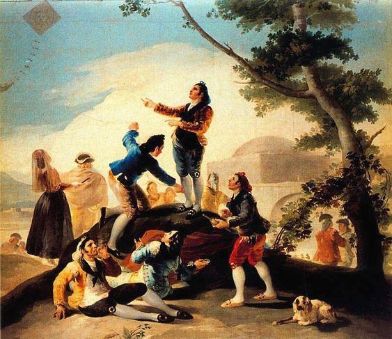 Francisco Goya Famous Paintings | the-kite-1778-goya-la-cometa