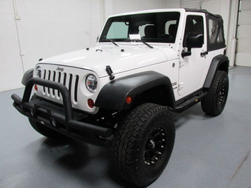 12 Jeep Wrangler Sport White 4x4 Lifted Bluetooth Custom Bumper Grill Guard Image 2 Jeep Wrangler Sport Jeep Wrangler Jeep Wrangler Grill