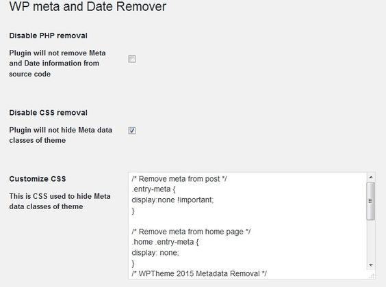 Hide remove date