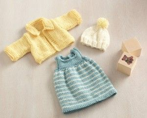 Knitting Pattern For Baby Doll Hat : American Girl Doll Clothes Knit Pattern - Free from Lion Brand Knitting P...