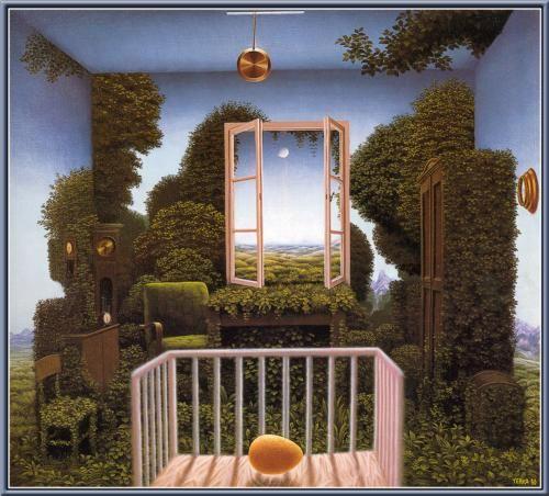 Twilight In The Nursery - Jacek Yerka