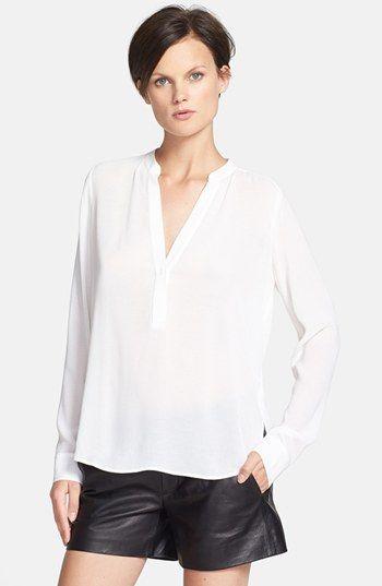 Placket silk blouse #vince