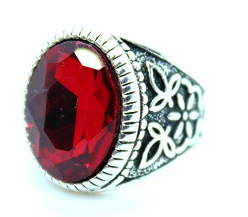 bague homme rubis rouge