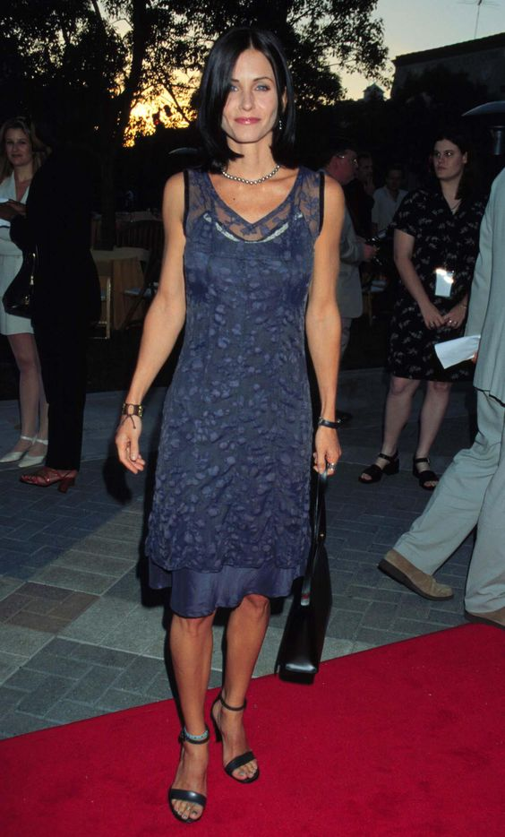 Blue dress monica in friends