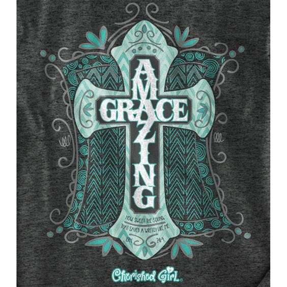 AMAZING GRACE CHERISHED GIRL LONG SLEEVE CHRISTIAN T-SHIRT