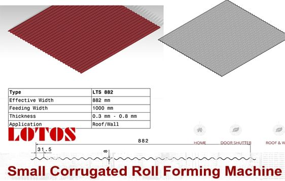 Small Corrugated Roll Forming Machine Roll Forming Corrugated Corrugated Roofing
