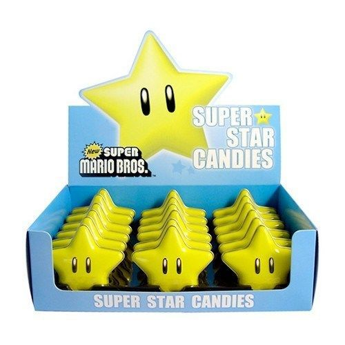 Super Star Sours Mario Bros Candy Nintendo Brothers Sweet Candy Game Fun Gamer