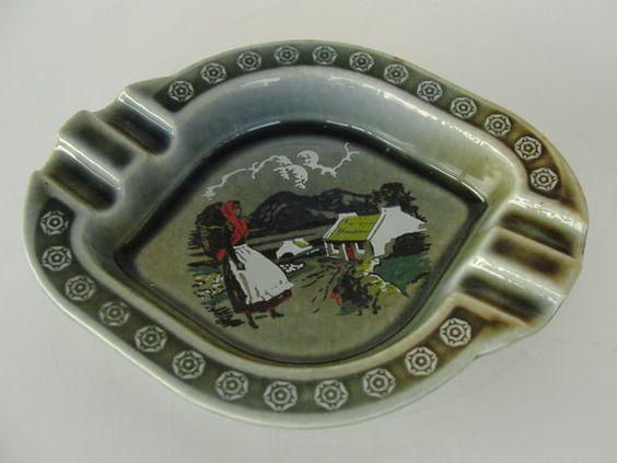 Vintage Wade Irish Porcelain Ash Tray Cottage by marketsquareus