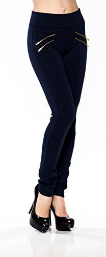 Double Zippers Skinny Long Jegging Pants
