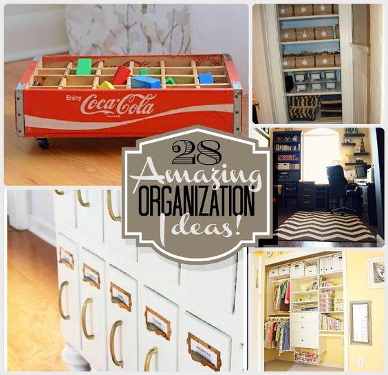 28 Amazing Organization Ideas!! -- Tatertots and Jello