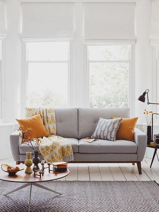 Descubra Como Usar Manta No Sofa A Casa Delas Living Room Scandinavian Living Room Grey Living Room Modern
