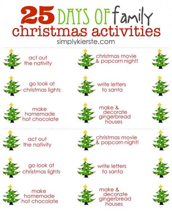 Christmas activities family christmas and the christmas for Christmas spirit ideas