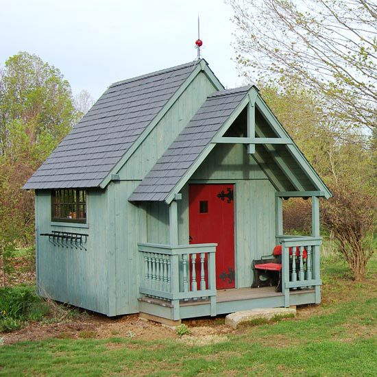 A gallery of garden shed ideas gardens front porches for Shed style porch roof