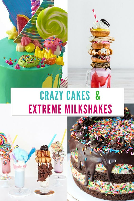 Check out over TEN of the most extreme desserts you'll ever see! These crazy cakes and milkshakes will make your stop in your tracks. They are amazing! via @diy_candy