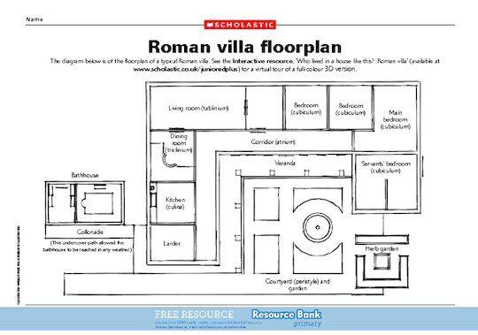 Roman Villa Floor Plan Roman House Ancient Roman Houses Roman Villa