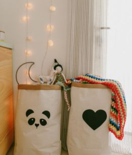 Saco Organizador Coraçao e Panda (1)