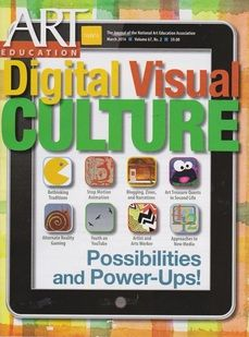 Rebecca Belleville article about students blogging art history. Art Education March 2014