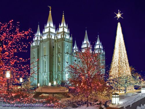 lights on temple square | Christmas Lights At Historic Temple ...