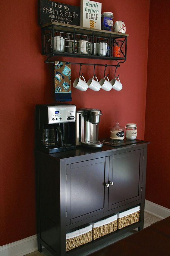 Home decor coffee bar cucina for Pictures of home coffee bars