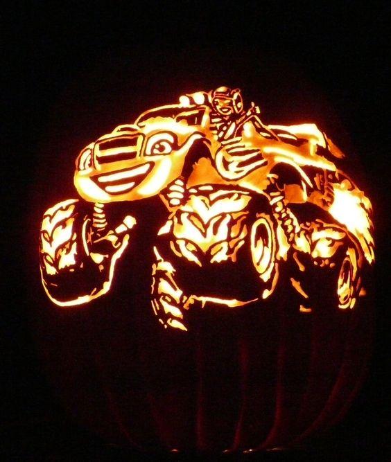 Pinterest the world s catalog of ideas for Monster pumpkin carving patterns