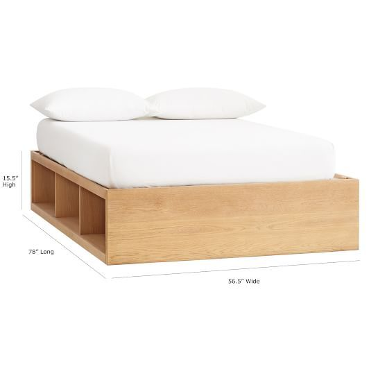 Store It 6 Cubby Bed Tall Bed Frame Platform Bed With Storage Bed