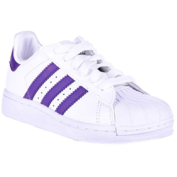 Adidas Boys Superstar 2 K Shoes ❤ liked on Polyvore featuring shoes and sneakers