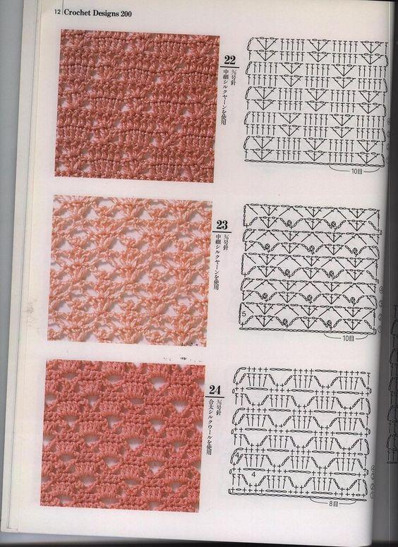 Patrones de tejido de punto vintage