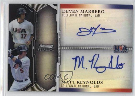 Deven Marrero; Matt Reynolds #23/25 (Baseball Card) 2011 Bowman Sterling USA Baseball 18U National Team Dual Autographs Black Refractor #USDA-MR -- Awesome products selected by Anna Churchill