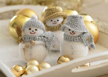 Skønne snemænd - Julehåndarbejde - Jul - Familie Journal ham med hatten på sned må jeg lave !