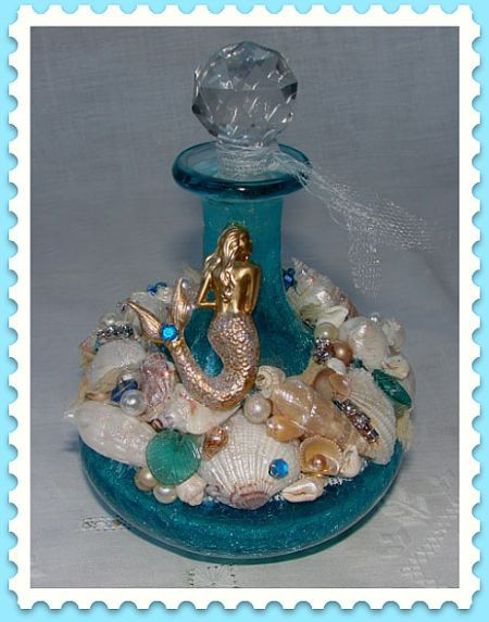 Mermaid Perfume Bottle ♡ by Treasured Heirlooms, via Flickr: