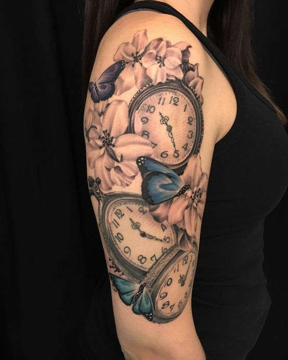 80 timeless pocket watch tattoo ideas a classic and fashionable totem check more at http. Black Bedroom Furniture Sets. Home Design Ideas