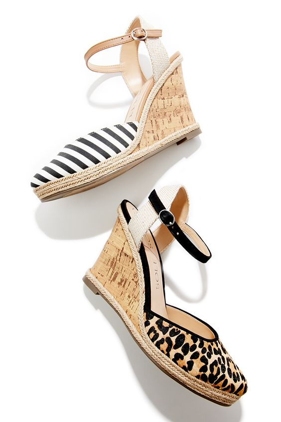 loving these cork wedge sandals for spring