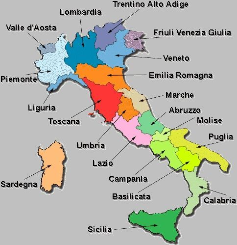 Mapa De Italia Italia Mapa Da Italia Aprender Italiano Aulas