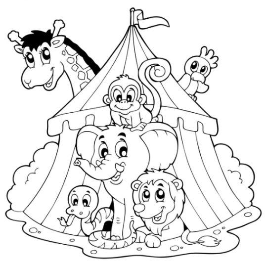 Zirkus Bilder Fur Kinder Zum Ausdrucken Free Freeprintable