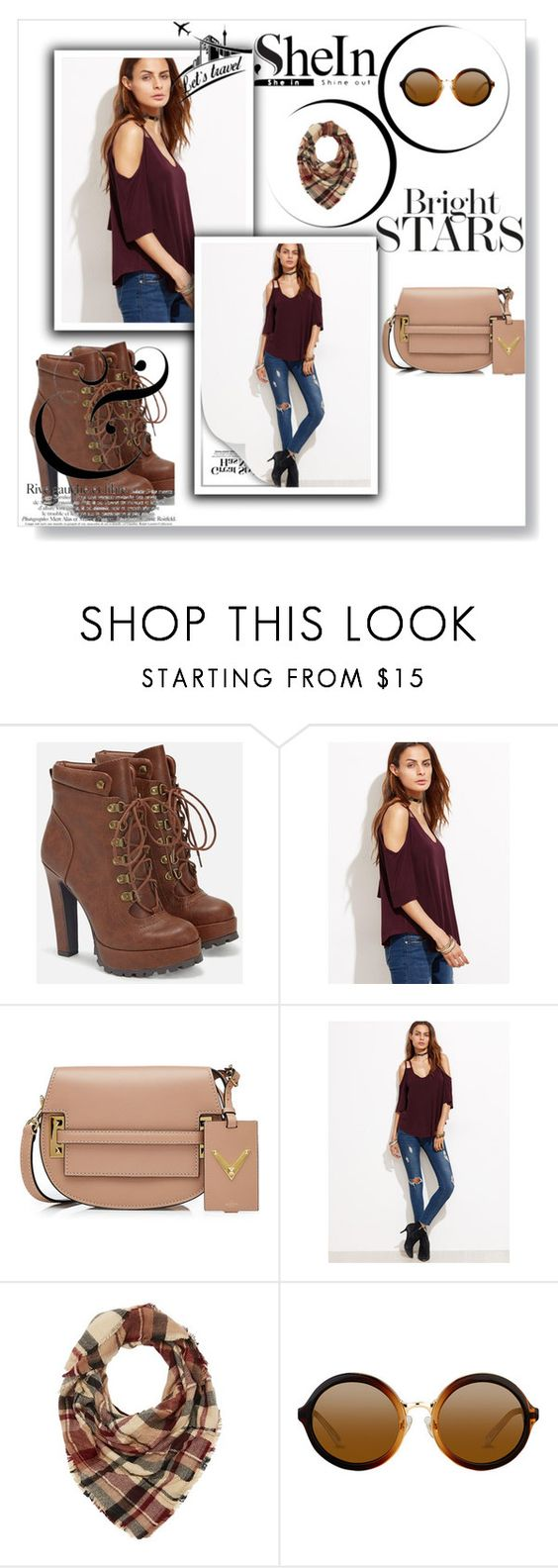 """""""Untitled #60"""" by polyvorelover-926 ❤ liked on Polyvore featuring JustFab, Valentino and Charlotte Russe"""