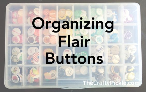 Organize your Flair buttons! More @TheCraftyPickle.com | CRAFT - PL ...