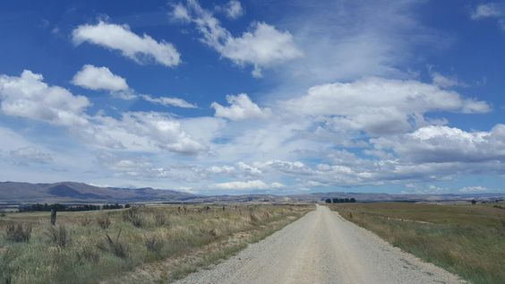Cool clouds travelling on a metal road between Nasby and Waitati Dunedin
