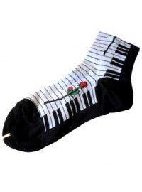 Damessokken Pianotoetsen Roos / SOD-PTR-KL