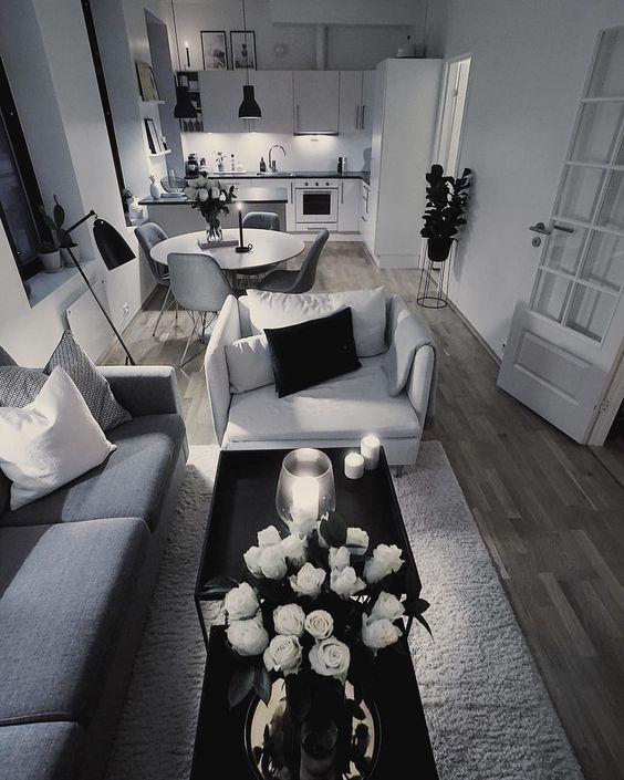Date Night @ Home // Source: Egil on Instagram #Apartment #Studio #design #interior #decor #grey