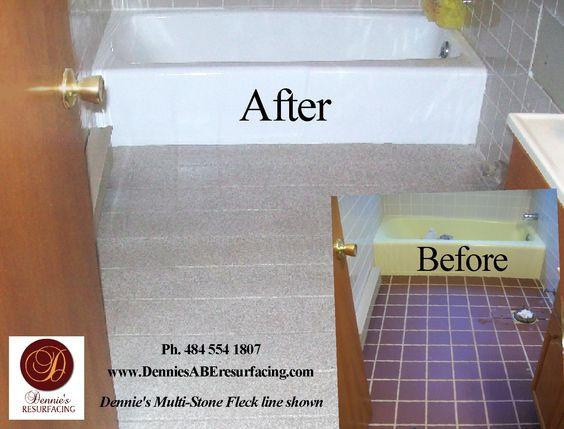 bathtub reglazing and floor tile resurfacing multistone